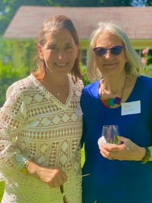 Board member, Esther Trakinski, and Co-Director, Pam Kline, at the Recovery Kitchen garden party