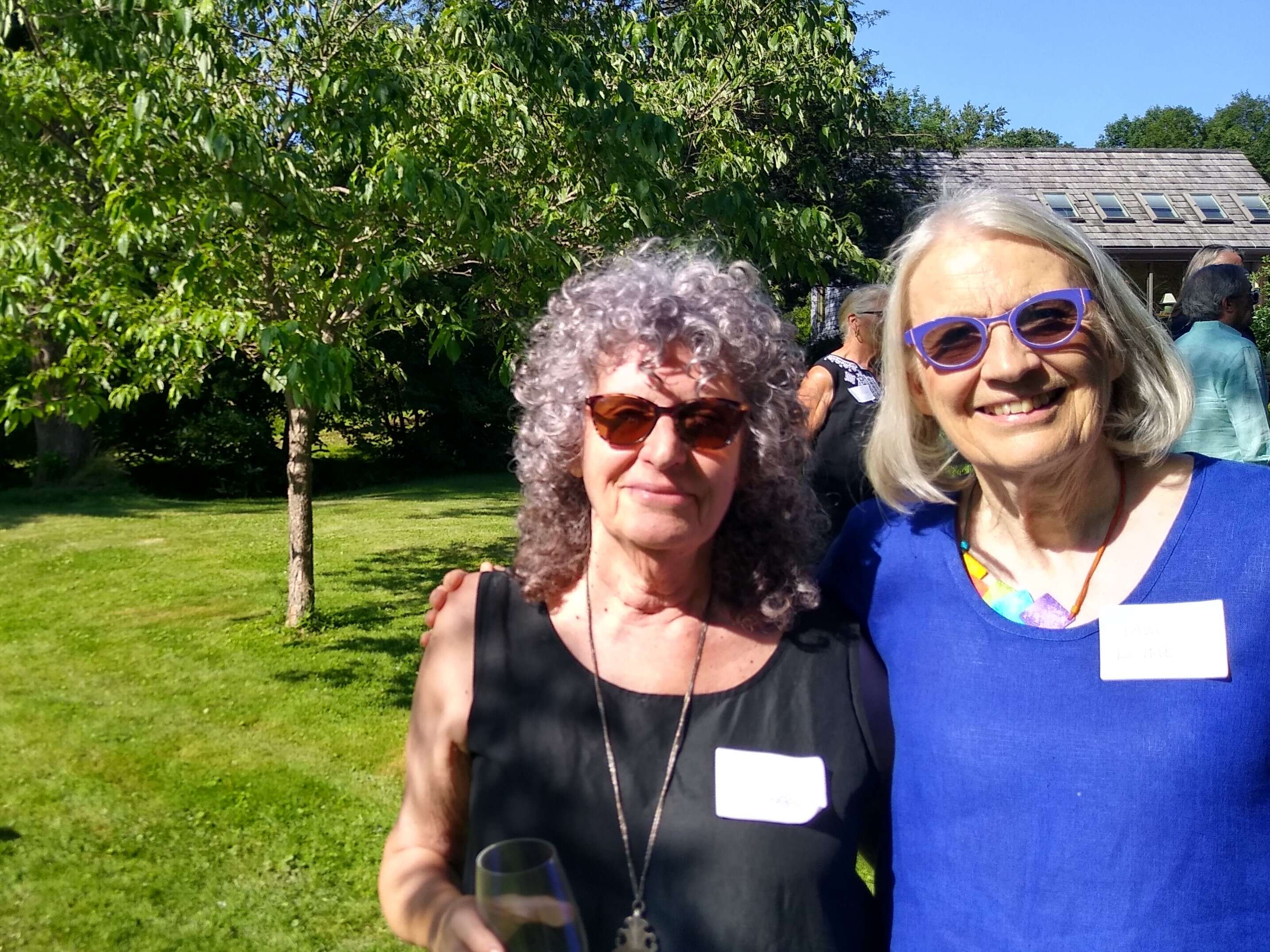 Carole Clark, founder, and Pam Kline, Co-Director, at the Recovery Kitchen garden party